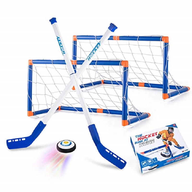 Mini Hockey Stick Set Ice Hockey Goals For Kids Air Hockey Training Ball Indoor Sports Game Floor Hockey Toys 2 Soccer Goals Set