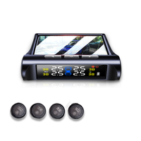 Led Display Tire Pressure Monitoring System Tpms Sensorsolar Car Security Smart Tyre Control Wireless Voice prompts Internal