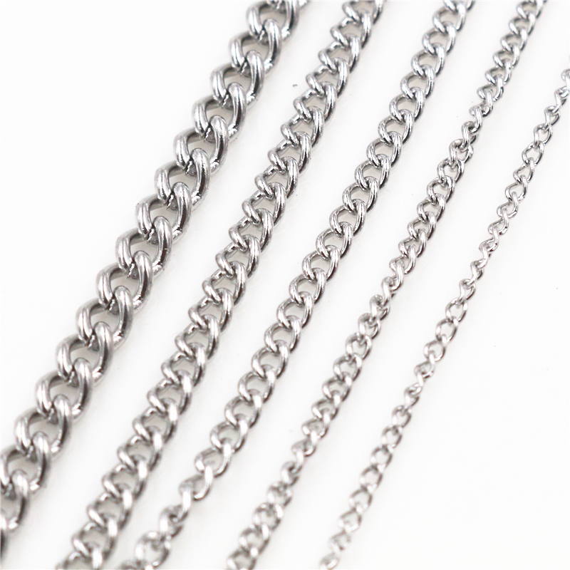 5 Meters/Lot Never Fade Thicken Stainless Steel Necklace Chains Bulk For DIY Jewelry