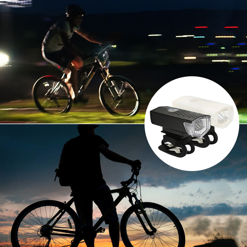 3W LED Bike Bicycle Light  USB Rechargeable Safety Warning Cycling Portable Light Highlight-low Bright-flicker  Flashlight