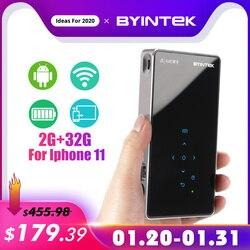 BYINTEK UFO P9 (P8I) android 7.1 OS Pico Tasche HD Tragbare Micro WIFI Bluetooth Mini LED DLP Projektor mit Batterie