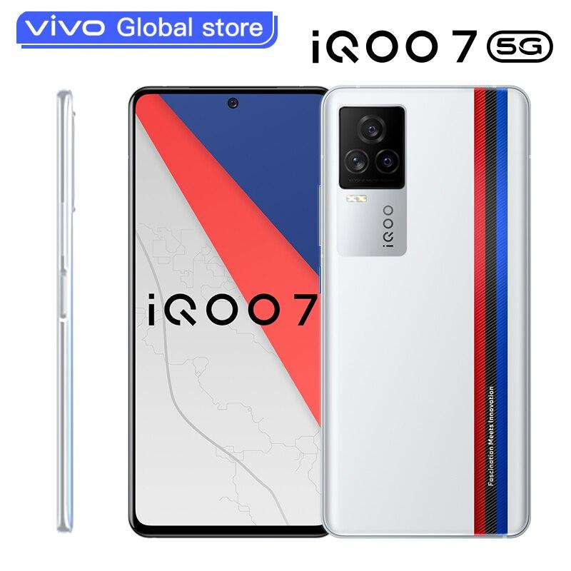 Vivo orijinal iQOO 7 5G Smartphone Snapdragon 888 120W Dash şarj 120Hz yenileme hızı Android 11 OriginOS celular telefon