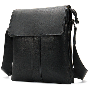 WESTAL Men's Genuine Leather Shoulder Bag For Men Casual Crossbody Man Handbag Messenger Bag Male Side Bags Guarantee Men's Bags - 8678A4black, Russian Federation