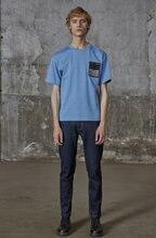 Мужской модный Удобный Повседневный привлекательный синий пуловер