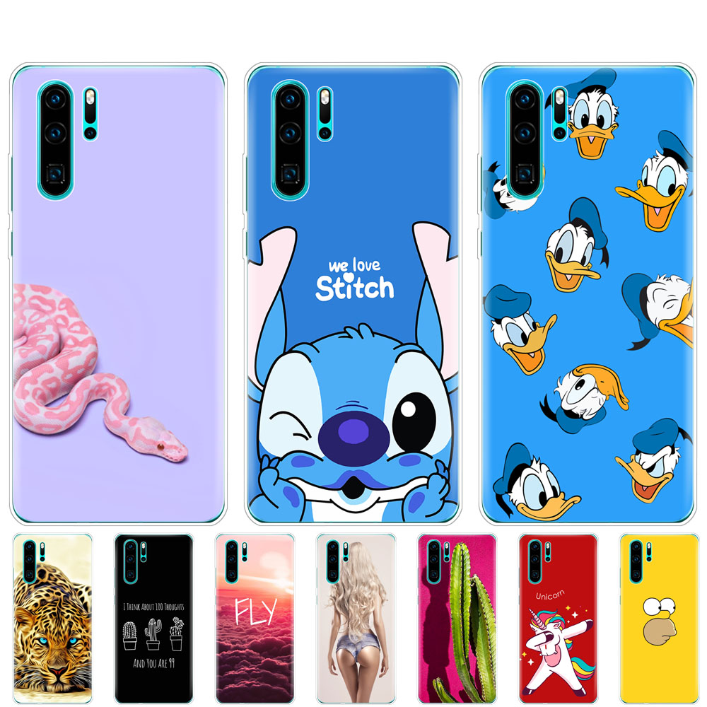 for Huawei P30 Pro Case bumper Silicone TPU Phone Back Cover On for Huawei P30 Pro VOG-L29 ELE-L29 P 30 Lite coque shockproof