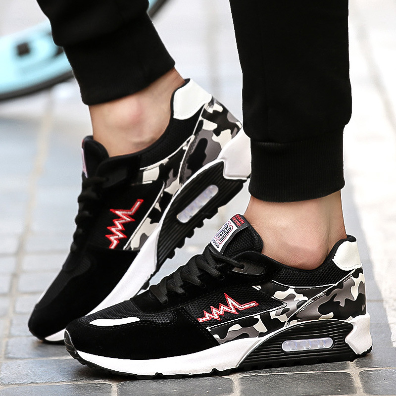 2019 Spring New Product Korean Leisure Sports Comfortable Breathable Mesh Youth Running Air Cushion Men's Shoes