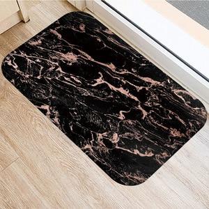 Image 3 - 40*60センチメートルブラウンストライプノンスリップスエードカーペットドアマット屋外キッチンリビングルームのフロアマットホームベッドルーム装飾フロアマット。