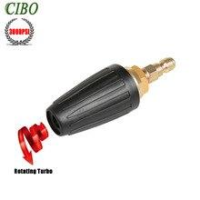 "Auto High Pressure Washer Rotating Spray Turbo Tornador Nozzle ,3000 PSI 3.0 Orifice 3.0 GPM with 1/4"" Quick Connect Plug Hot"