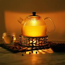 Candle-Warmer Tea-Light-Holder Portable Base Heat-Resisting Tea-Accessories Stainless-Steel