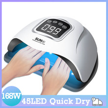 SUN M1 UV LED Lamp Powerful 168W Nail Lamp Upgrade Auto Nail Dryer Professional Quick Drying Manicure Lamp
