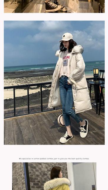 -30 Degrees Winter Women Long Parkas Jackets Plus Size M-5XL Thick Warm Big Fur Collar Female Slim Sintepon Parkas Outwear Coat 15