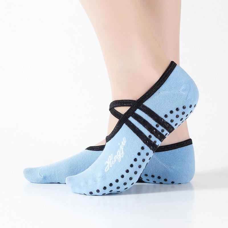 Women Sports Fitness Yoga Socks Round Head Cotton Non-Slip Breathable Sports Socks Ventilation Pilates Ballet Socks Dance Sock