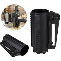 Outdoor Water Bottle Mug Cup Detachable Tactical Rail Metal Gadget Military Portable