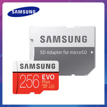 Samsung-tarjeta Micro SD Original, 64GB, 128GB, EVO + Plus, 100 MB/s, 256GB