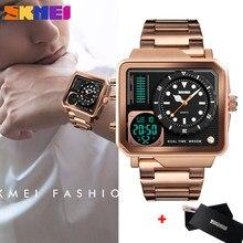 SKMEI Luxus Casual Männer der Digitale Elektronische Uhren Sport Quarz Military Uhr Chrono Wasserdichte Männliche Armbanduhren Relogio