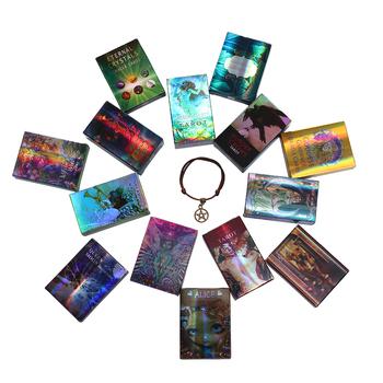 Gra w karty Tarot del Oracle zabawka wróżbiarstwo tajemnica jazda elektroniczny przewodnik przewidywanie mózgu tanie i dobre opinie CN (pochodzenie) QG-TLP02 About 10*6cm Board Game Card Tarot Oracle Card laser paper table games divination prediction