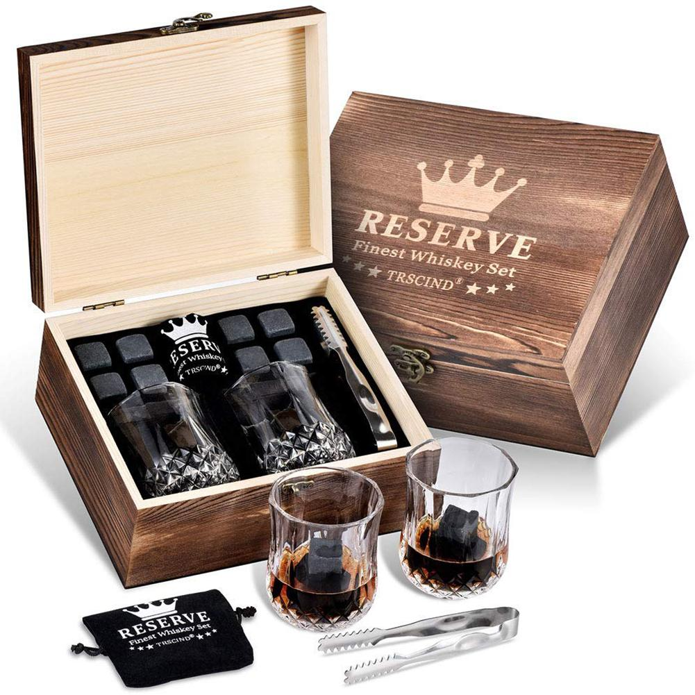 Whiskey Stones Gift Set 12 Stones Wine Beverage Chillers Keep Your Drink Cool