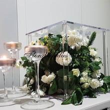 Acrylic Flower Stand Crystal Clear Holder Wedding Decoration