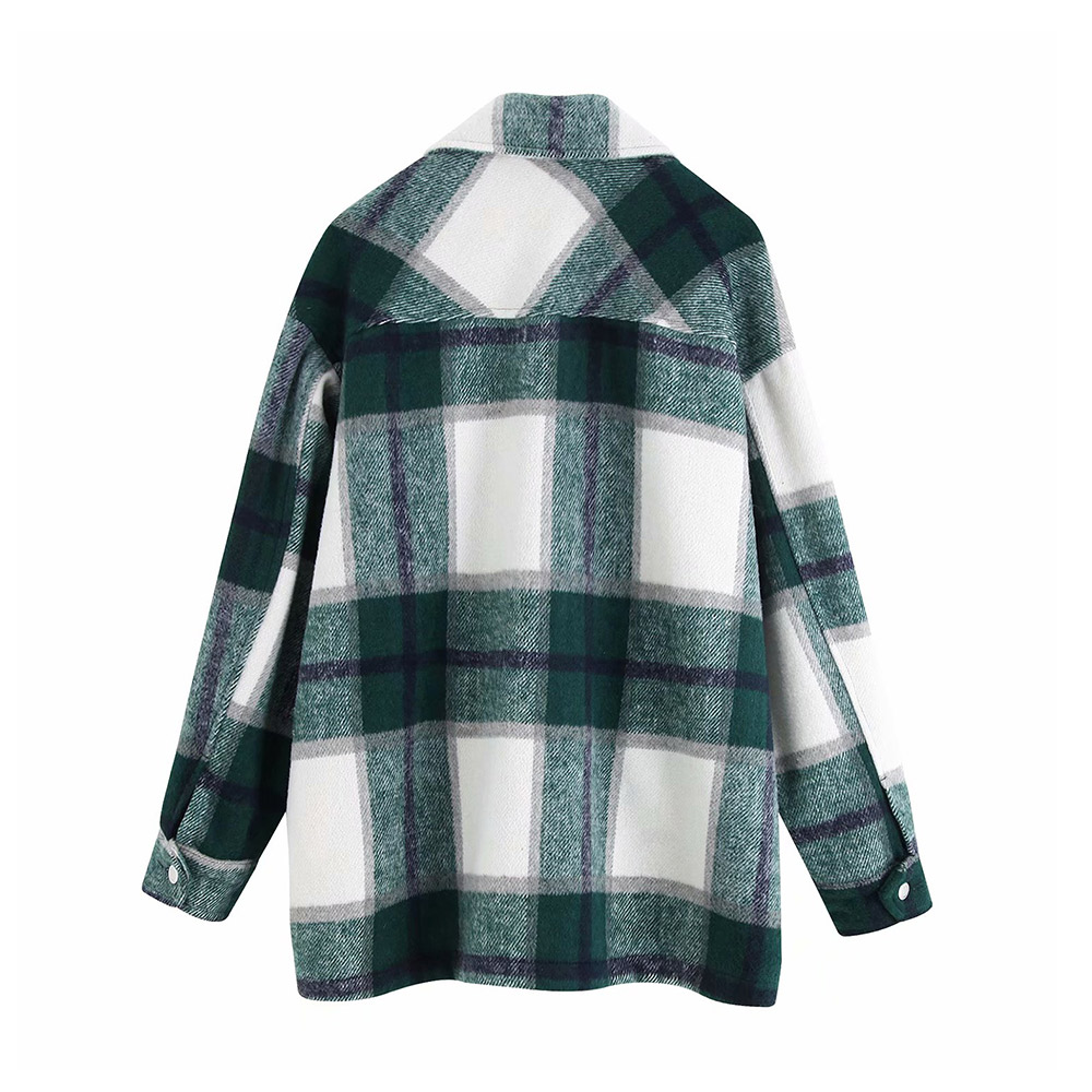 H9fa246d4ca5044a08ef02a98b74905fbf Vintage Stylish Pockets Oversized Plaid Jacket Coat Women 2019 Fashion Lapel Collar Long Sleeve Loose Outerwear Chic Tops