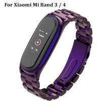 Металлический браслет duoteng для xio mi band 3 4 ремешок из