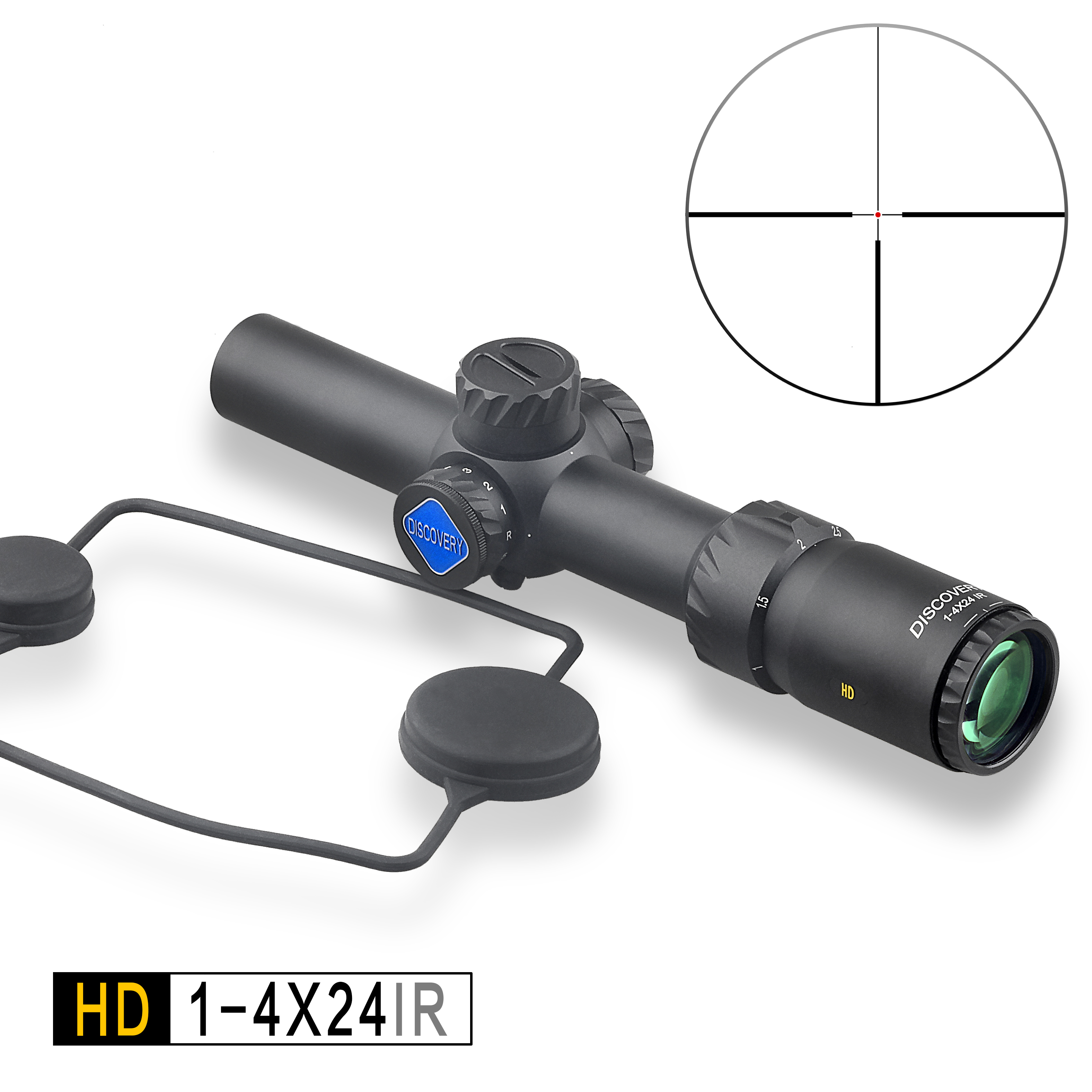 Discovery HD 1-4x24IR 4x Tactical AR 15 Air Rifle Gun Scope for Rifle Hunting image