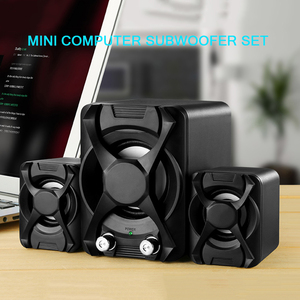 Image 2 - USB + AUX Wired Computer Subwoofer Speakers 5W+3W*2 Set Bass Reinforcement Stereo 2.1 Speakers for PC Phone Loudspeaker