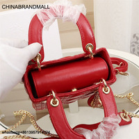 Luxury Brand Tote bag Lambskin Metal Buckle Rhombic New Top Quality Leather Women Designer Handbag Chain Shoulder Messenger Bags