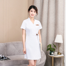 Beauty salon cosmetologist overalls female nurses wear high-end confinement center production kang shi short-sleeved dress
