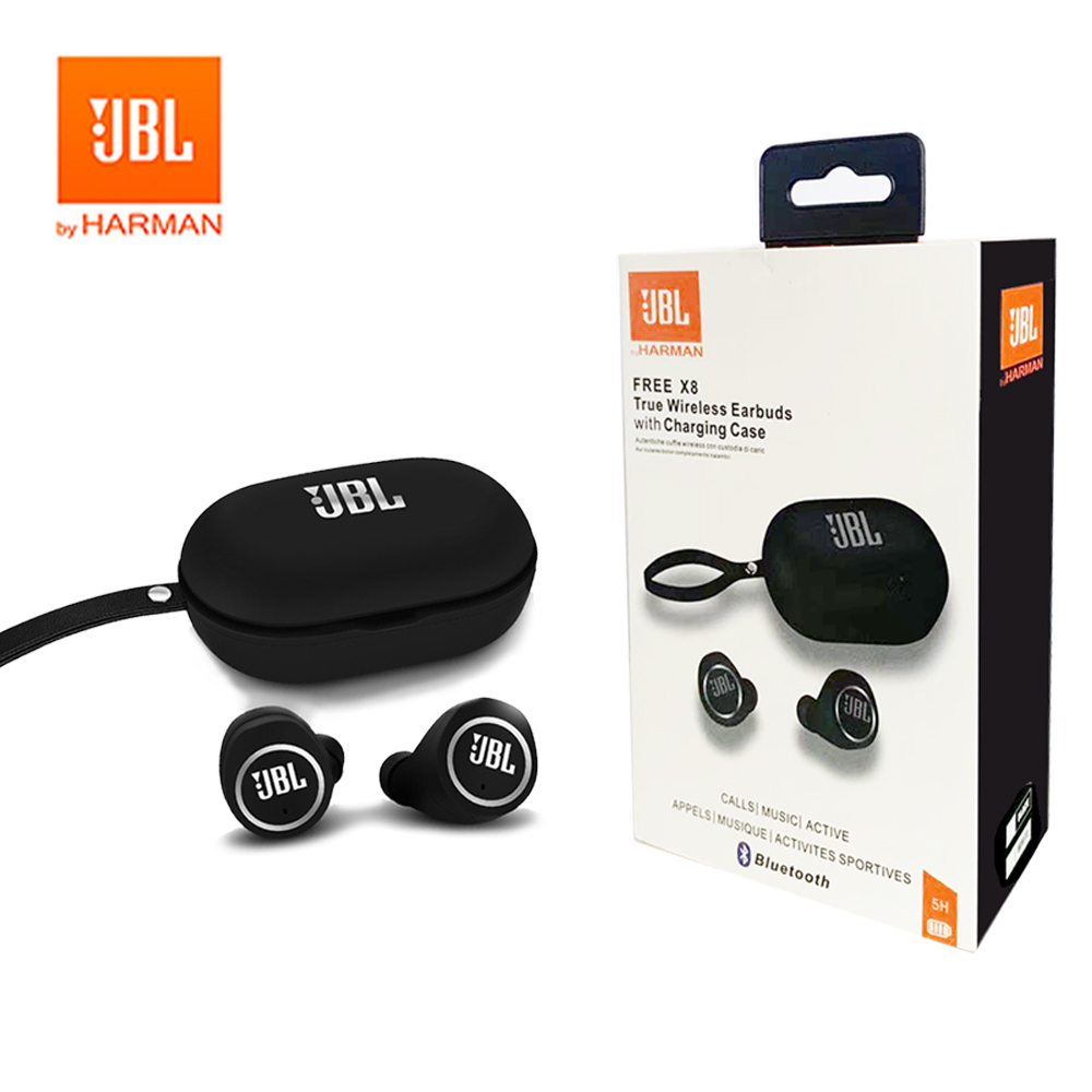 JBL TWS 18 x8 True Wireless Bluetooth Headphones Headphones Stereo Bass Sound Headphone Earbuds with Mic Case