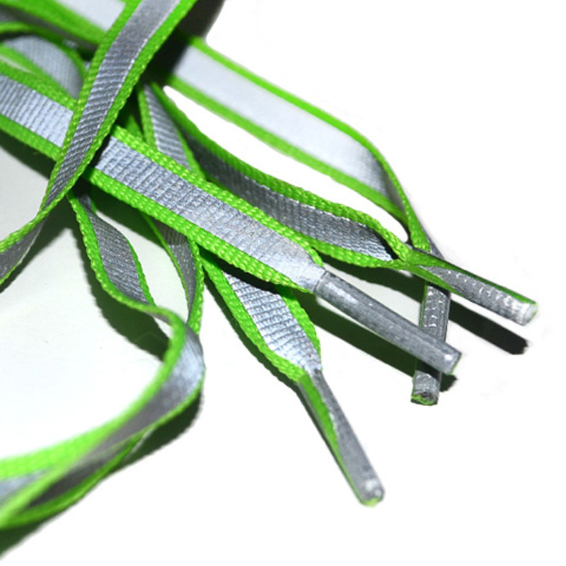 Creative Double-sided Reflective Shoelaces Fashion Tide Night Running Sports Shoes Hot Selling Wholesale Warning Laces 4