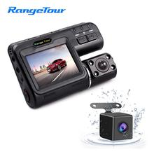 "Car DVR Dual Lens Dash Camera  Driving Recorder i1000s 2""LCD G Sensor Motion Detection 1080P"