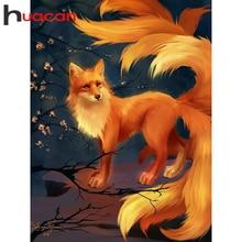 Huacan 5D Diy Diamant Malerei Fuchs Tier Kreuz Stich Diamant Mosaik Blume Dekoration Für Home Wand Aufkleber