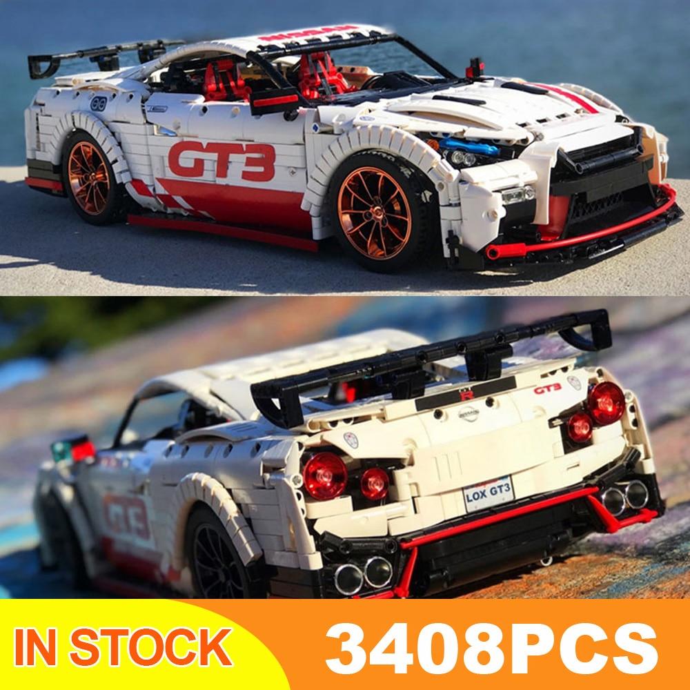 DHL 23010 3408 шт. Moc высокотехнологичный Nismo Nissan GTR GT3 скоростной гоночный спортивный автомобиль набор строительных блоков Кирпичи Модель игрушки 25326 1