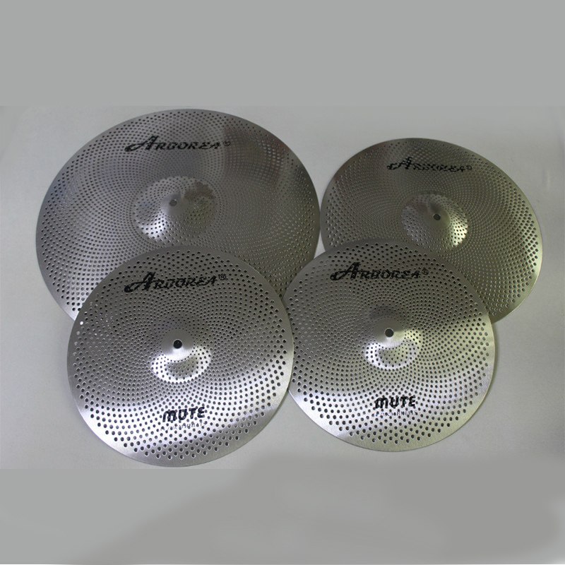 Arborea Silver And Golded Color Mute Cymbal Set: 14