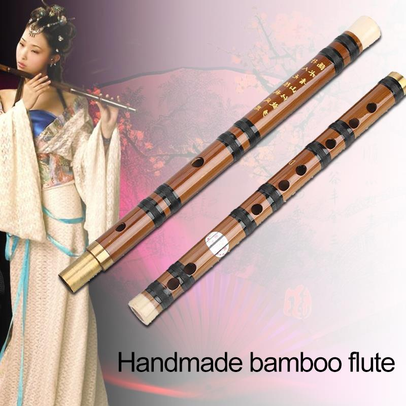 Clarinet Long Durable Bamboo D Tone Beginner Handmade Study Music Musical Instruments Teaching Tradition Practical Removable image