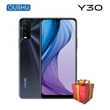 Купить Новейшая модель; vivo Y30 мобильный телефон 8 ГБ 128 Snapdragon 460 5000mAh Большой Батарея 18 Вт тире зарядки 13.0MP тройной камеры смартфона