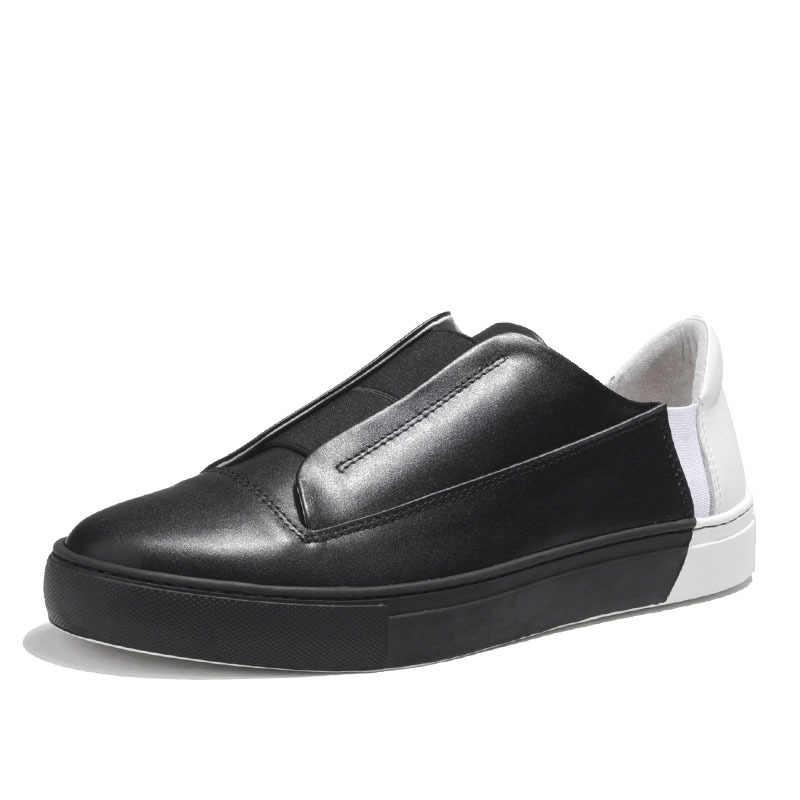Nowe markowe męskie mieszane kolory przypadkowi buty z prawdziwej skóry modne buty wsuwane mokasyny mokasyny do jazdy męskie niskie buty sportowe