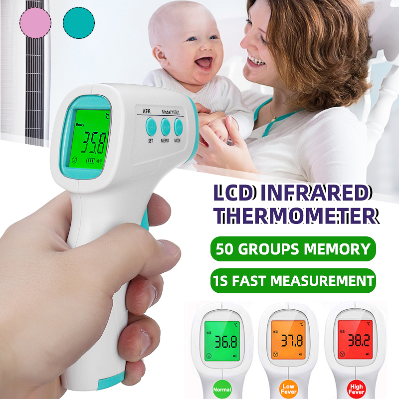 Handheld Baby Thermometer Infrared Digital Electronic LCD Body Measurement Forehead Ear Non-Contact Children Adult Thermometer