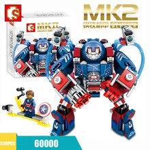 Legoinglys Marvel Iron Man Hulkbuster War Machine Building Blocks Super Heroes Avengers Infinity War Children Kids Toys Gifts цена 2017