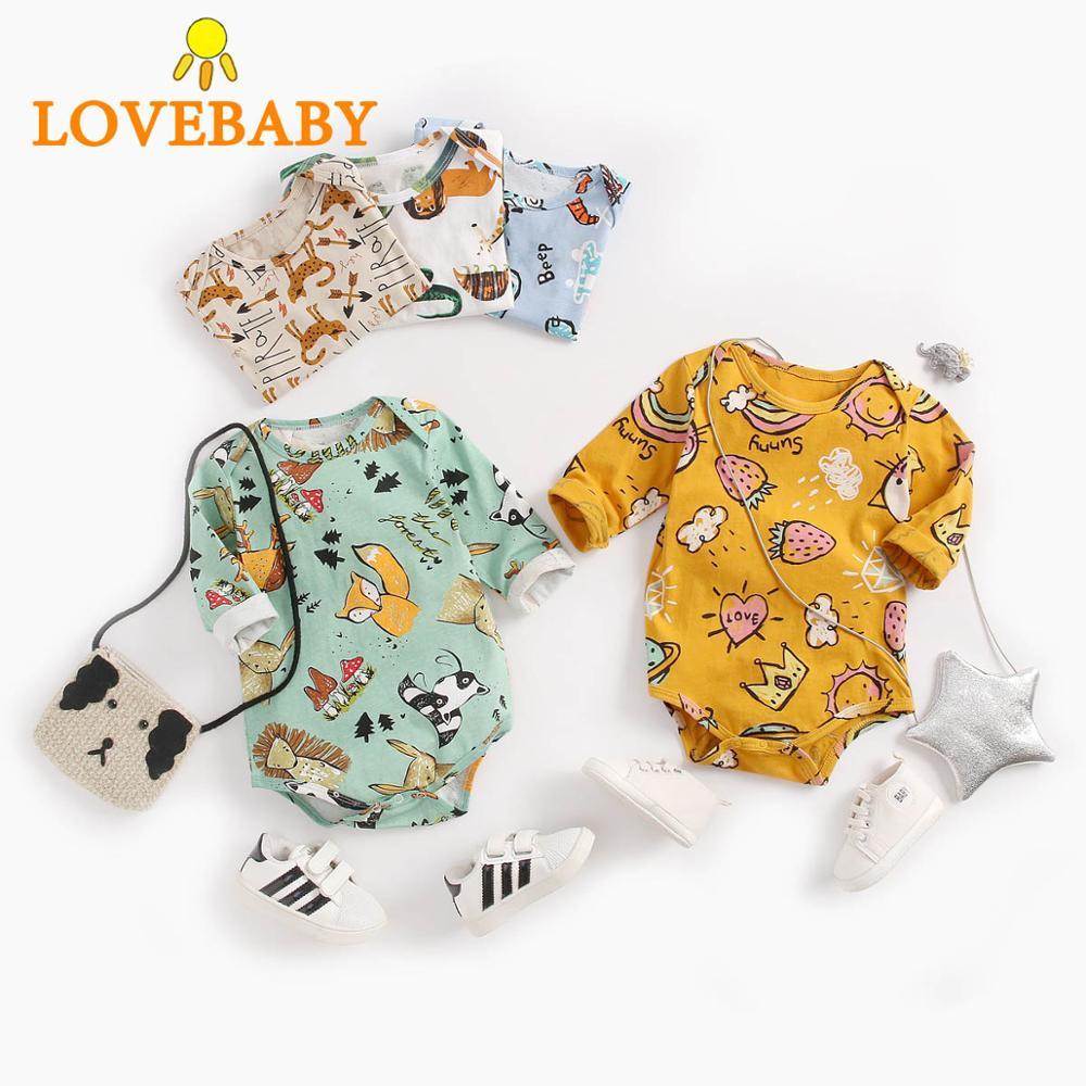 2019 Newborn Baby Bodysuit Children Clothing Twins Fashion Girls Boy Clothes Jumpsuit Girls Clothing Suit Cotton 0-36M Body Bebe