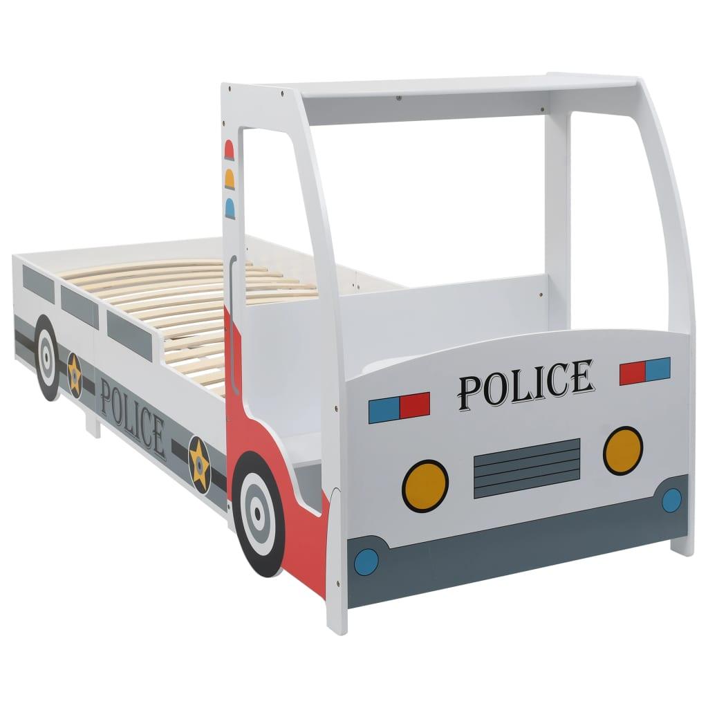VidaXL Children's Police Car Bed With Desk 90x200 Cm
