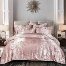 Juego de ropa de cama Jacquard de lujo europeo, funda de edredón y funda de almohada sin sábana, 2/3 Uds.