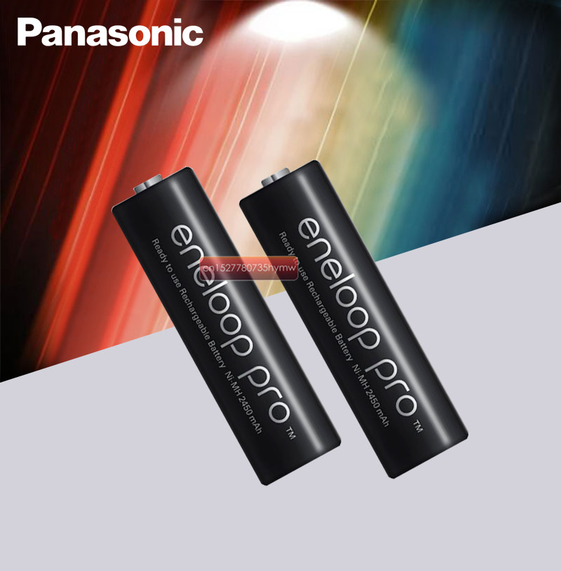 Panasonic Eneloop Original Battery Pro AA 2500mAh 1.2V NI-MH Camera Flashlight Toy Pre-Charged Rechargeable Batteries
