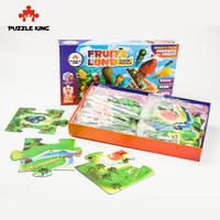 Puzzle King 61*91cm AR Puzzles Cartoon Educational Toy for Children for Baby 24 PCS Puzzle Game Kid Toys Christmas Gift