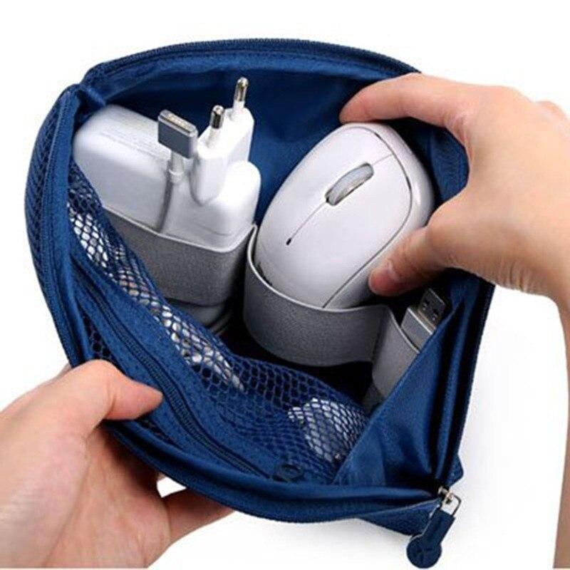 Portable Storage Bag Digital Gadget USB Cable Earphone Pen Travel Bags Cosmetic Makeup Case DQ-Drop