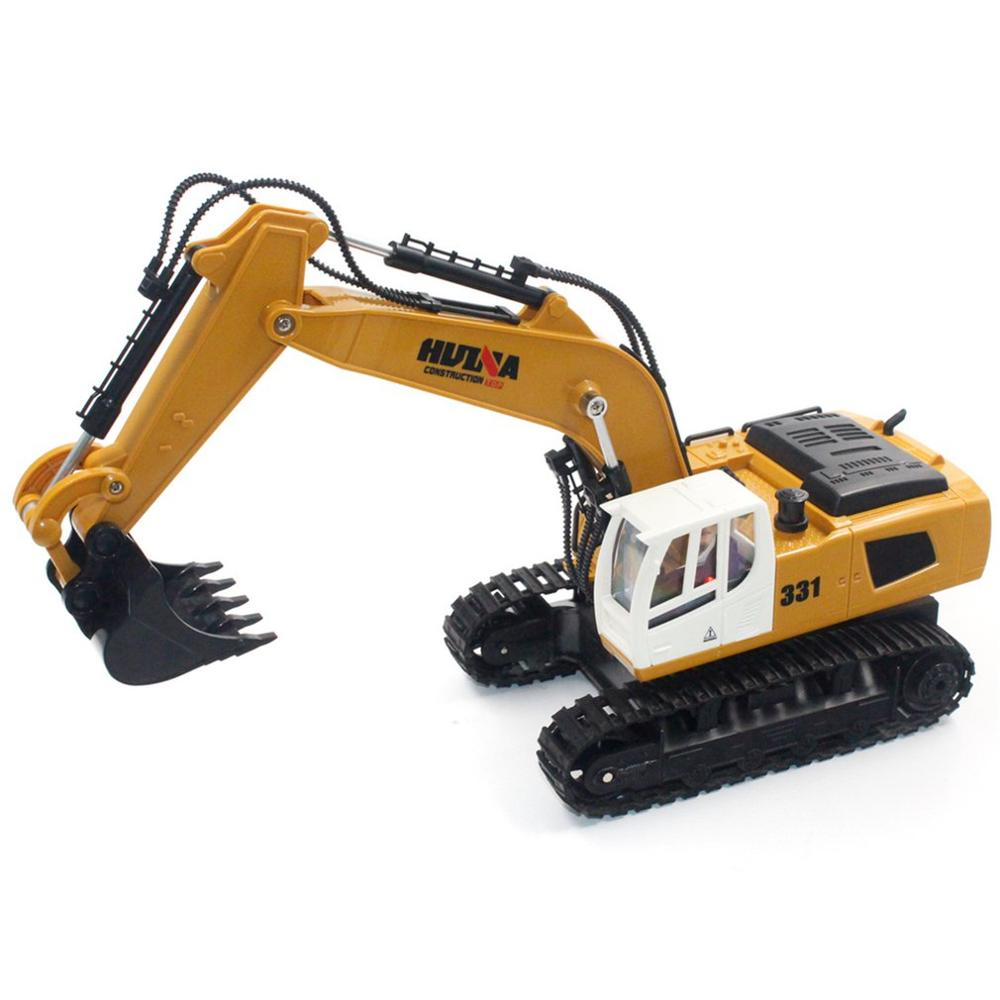 2019 HUINA TOYS 1331 1/16 9CH RC Excavator Truck Engineering Construction Car Remote Control Vehicle With 350 Rotation Light