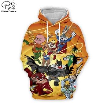 PLstar Cosmos Anime Bugs Bunny colorful Cartoon tracksuit New Fashion 3DPrint Zipper/Hoodies/Sweatshirt/Jacket/ Mens Womens s-14