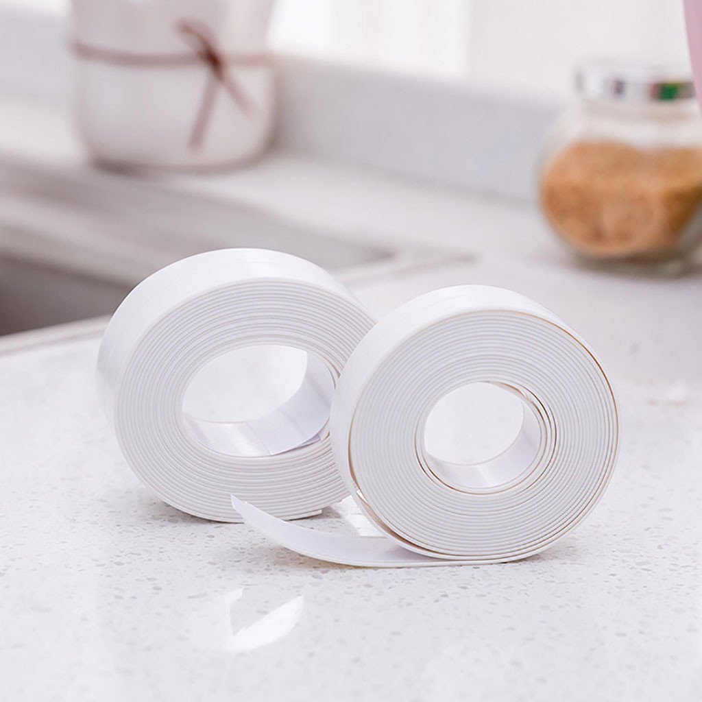 2Pcs Wall Sealing Tape Waterproof Mold Proof Adhesive Tape Kitchen Bathroom kitchen sink accessories #SH