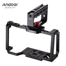 Andoer هيكل قفصي الشكل للكاميرا بلاكماجيك جيب سينما كاميرا 4K/6K BMPCC 4K 6K مع مقبض علوي قبضة فيلم فيديو صنع الحذاء البارد جبل