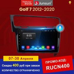 Автомобильный мультимедийный плеер Junsun, автомагнитола на Android 10 с голосовым управлением и ИИ для Volkswagen Golf 7 2013-2017, GPS-навигацией, 2 din, без dvd